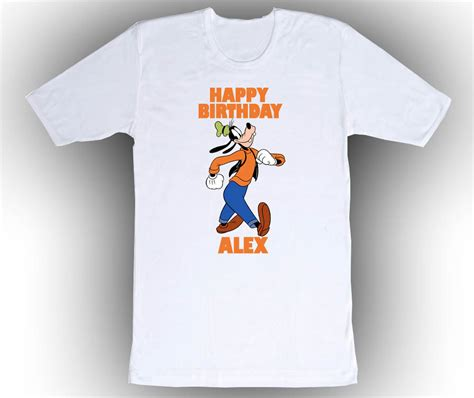 goofy gift ideas personalized custom goofy birthday t shirt gift t shirts