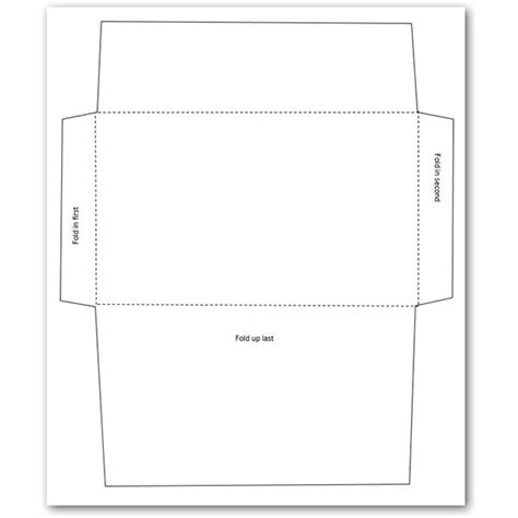How To Make An Envelope Out Of Printer Paper - 5 free envelope templates for microsoft word