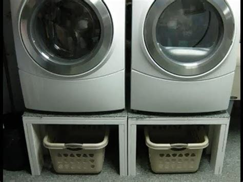 Washer And Dryer Pedestal Alternatives How To Build A Front Load Washer And Dryer Pedestal Stand