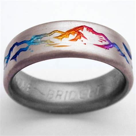 how to make titanium jewelry montclair 2 titanium ring with mountains titanium