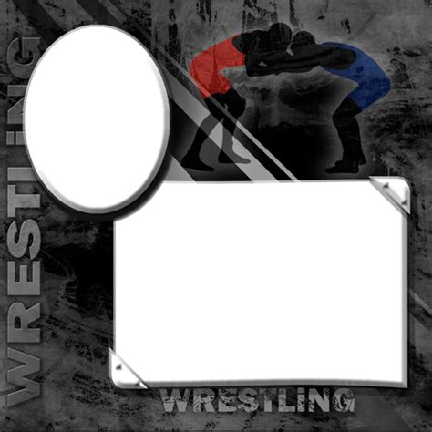 wrestling photo templates