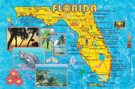 flordia map large detailed tourist map of florida state vidiani maps of all countries in one place