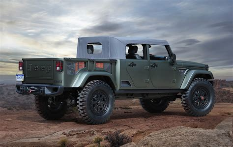 jeep concept truck 2018 jeep wrangler confirmed to spawn crew cab