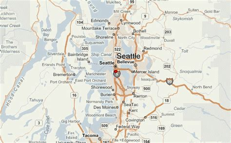 seattle map mountains seattle location guide