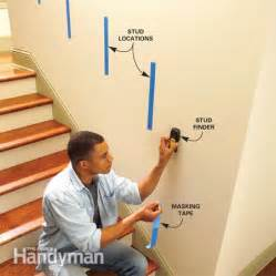 How To Install Handrail Brackets install a new stair handrail the family handyman