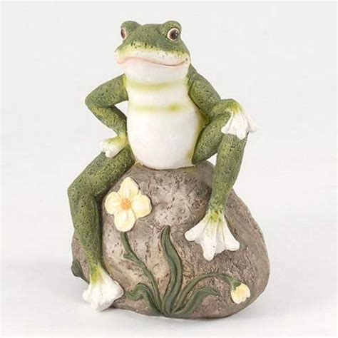 Rock Garden Ornaments Buy 20cm Frog On Rock Garden Ornament From Our Ornaments Range Tesco
