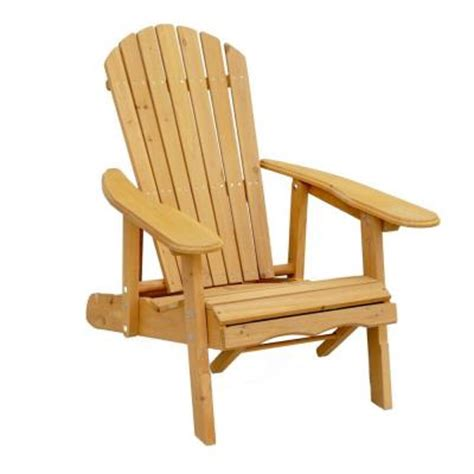 Adirondack Chair Home Depot by Leisure Season Reclining Patio Adirondack Chair With Pull