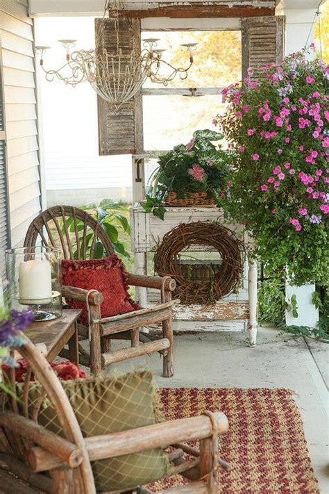 flea market style farmhouse porch porch decorating