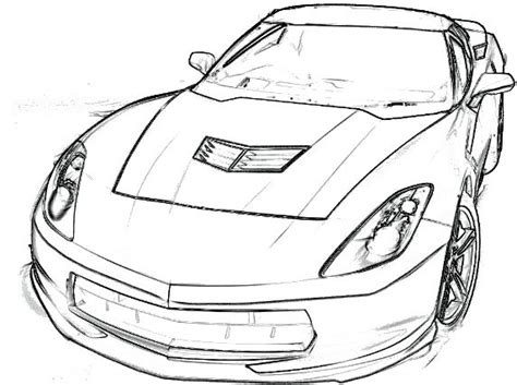 corvette stingray coloring page corvette car coloring