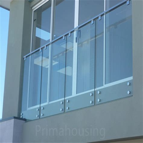 Tempered Glass Railing tempered glass interior stairs railing designs with standoff