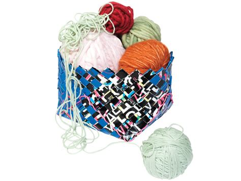 How To Make A Paper Woven Basket - scrap paper woven basket make