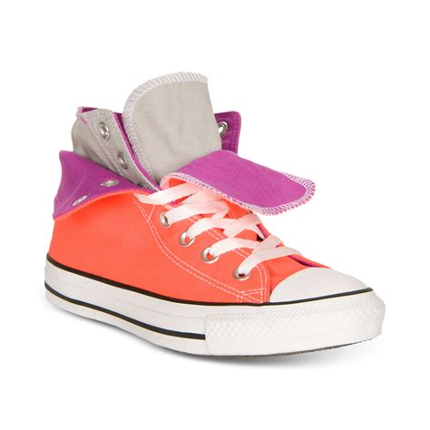 fold sneakers converse chuck two fold casual sneakers in pink