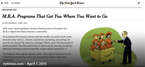 Mba Programs Ny Times by Nytimes Touts Michigan Ross As A School For Mbas Want