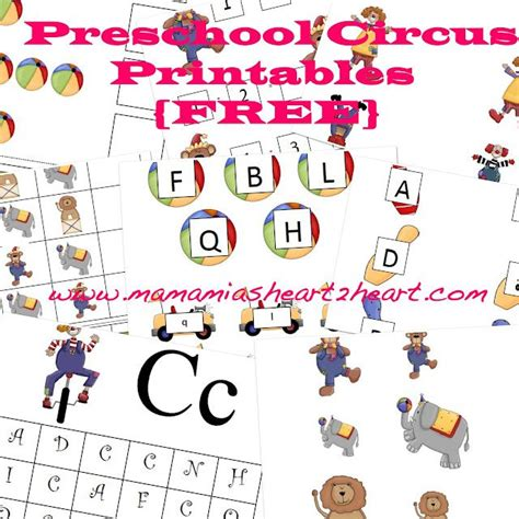 printable circus activity sheets preschool circus printables for free activities for