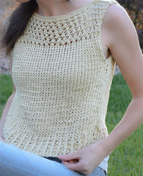 knit summer free knitting pattern for summer vacation easy top