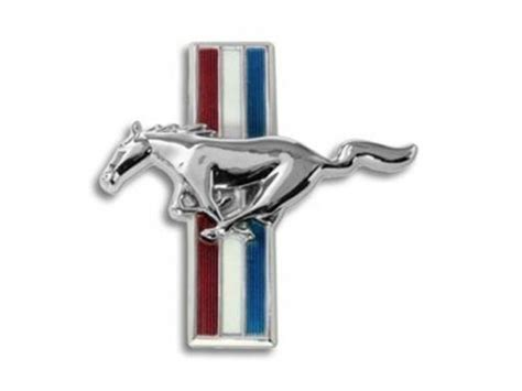 Sell Ford Mustang Pony Emblem Grill C7zz 8213 A Nos 1967 67 Chrome Original Oem Motorcycle In Find Ford Mustang Shelby Gt Running White Blue Tribar Badge Grille Emblem Motorcycle