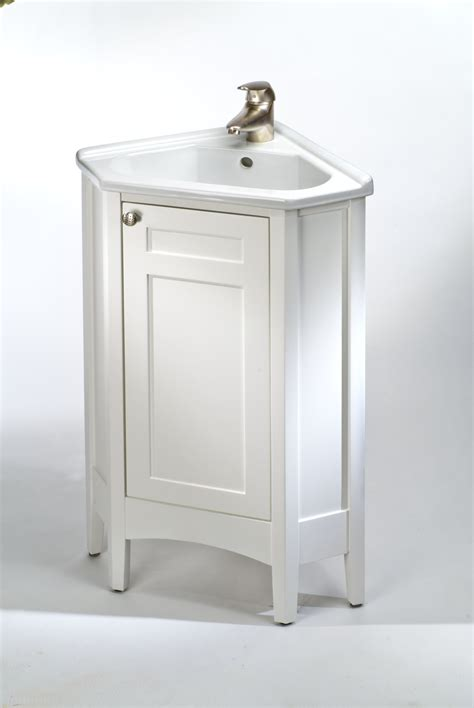 Bathroom Vanities With Storage White Polished Teak Wood Corner Bathroom Vanity With Storage And Sor Panel Also Undermount Sink