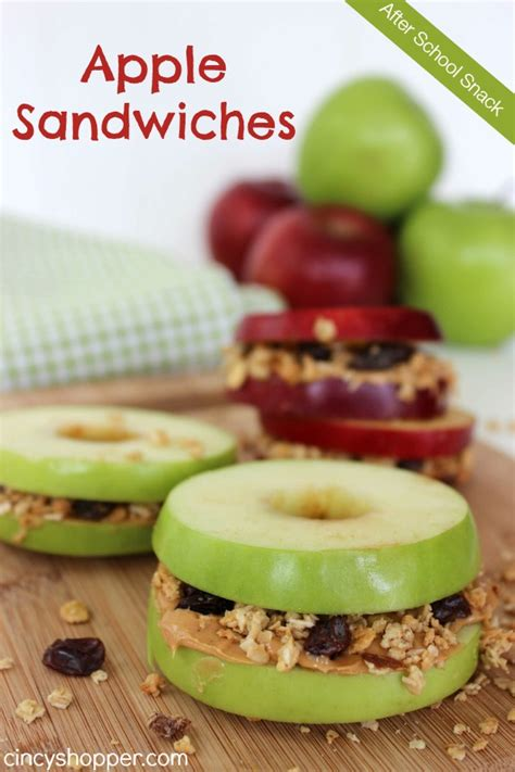 after school snack apple sandwiches recipe cincyshopper