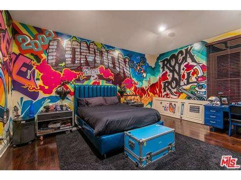 rock and roll bedroom rock n roll grafitti bedroom for a kid tween or teen