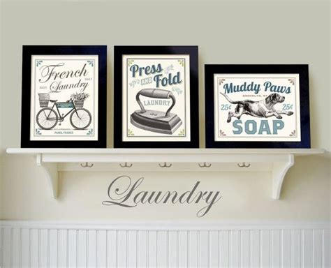 Laundry Room Wall Decor by Laundry Room Decor Set Of 3 Prints Country