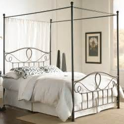 canapy bed sylvania iron canopy bed in french roast humble abode