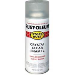 Clear Coating Spray Paint - rust oleum crystal clear enamel spray clear walmart com