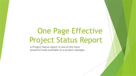 It Consulting Agreement Template one page effective project status report
