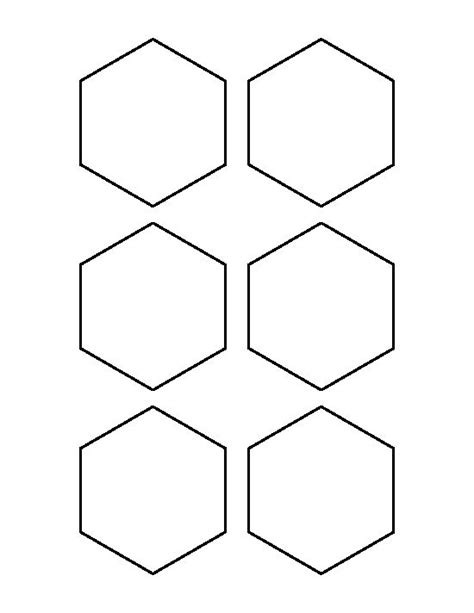 3 inch hexagon template 3 inch hexagon pattern use the printable outline for