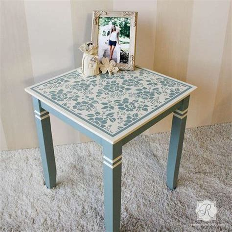 Stenciling Furniture by Diy Blossoms Floral Furniture Stencils Royal