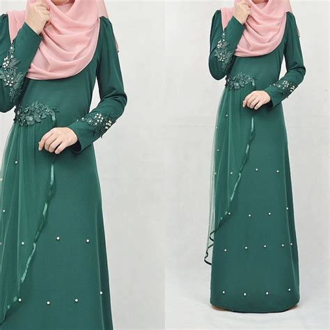 muslimah jubah for dinner dress jubah dinner labuh muslimah pearl shopee malaysia