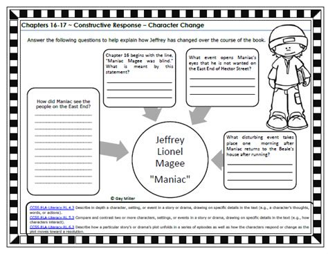 Maniac Magee Worksheets by Maniac Magee Activity Worksheets Newhairstylesformen2014
