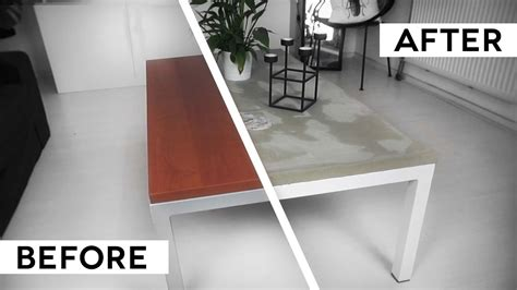 a concrete table top diy minimal concrete table top ikea hack