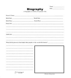 biographical sketch template biography template 20 free word pdf documents