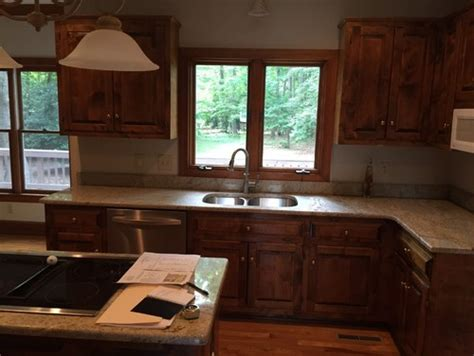 gray paint with cherry cabinets cherry cabinets kitchen paint color