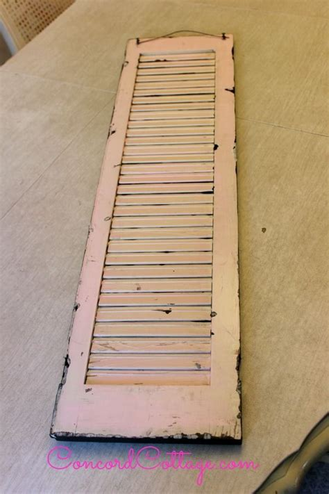 Ideas For Kitchen Countertops And Backsplashes Hometalk Turn An Old Shutter Into Shabby Chic Wall Decor