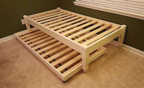 post platform bed wood bed  profile bed