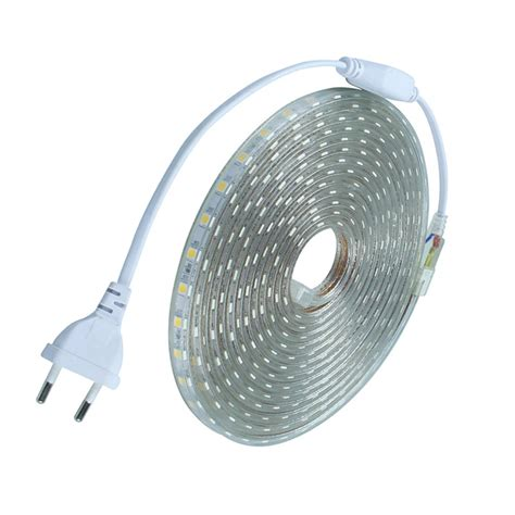 Waterproof Smd5050 Led Tape Ac220v Flexible Led Strip 60 Outdoor Led Lights Strips