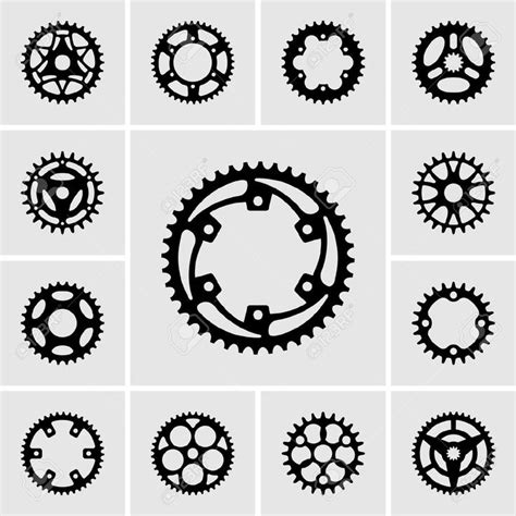 bicycle sprocket tattoo designs 19413166 set of sprocket icons stock vector bike gear