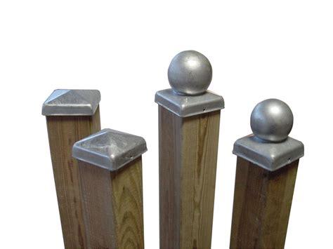 galvanised fence post cap
