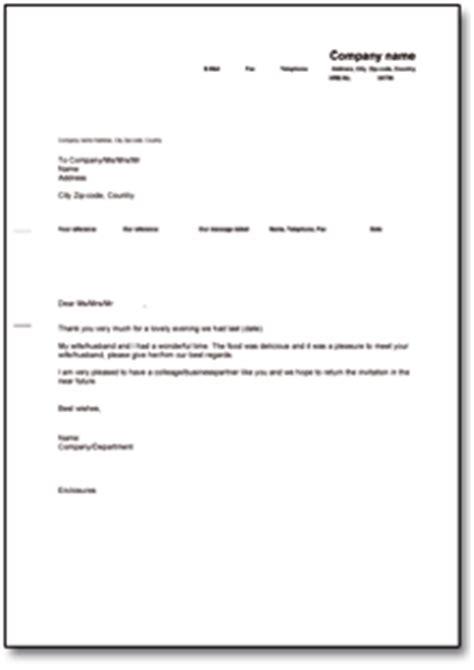 Englischer Briefvorlage Dehoga Shop Danksagung Nach Einladung Englisch Kaufen