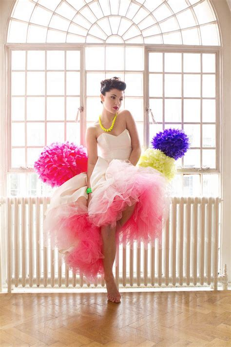 colour flower trends for 2012 uk wedding blog so you a pop of neon a 50s meets 80s styled bridal shoot 183 rock