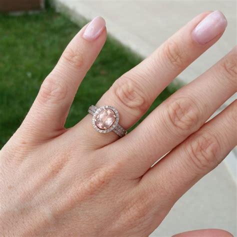 real engagement rings morganite weddingbee