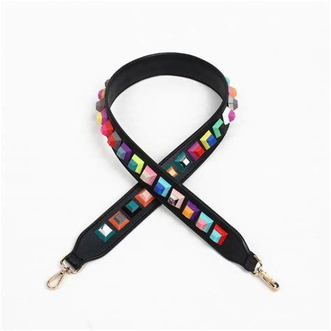 Longstrap Tali Tas Kekinian jual tas tali panjang rivet square premium 90 x 4 cm black murah kwalitas tas