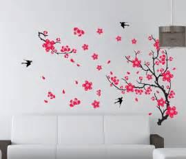 large plum blossom flower removable wall sticker decor