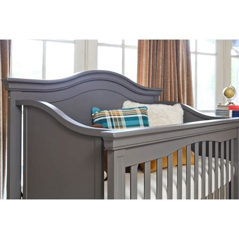 Million Dollar Baby Classic Louis Convertible Crib With Toddler Rail Million Dollar Baby Classic Louis 4 In 1 Convertible Crib With Toddler Rail In Manor Grey M3401mg