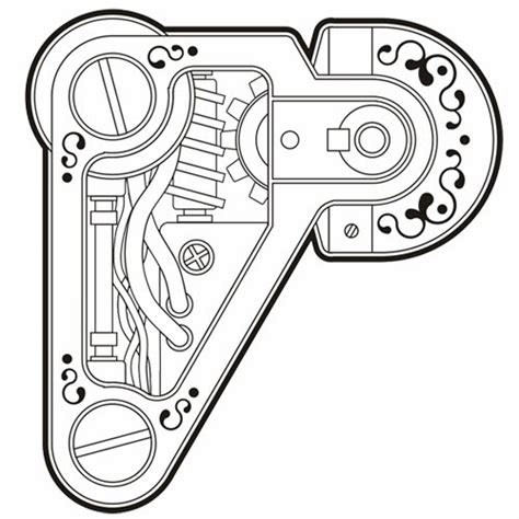 Stencil Machine Gear By 1airbrush key steunk gears coloring pages