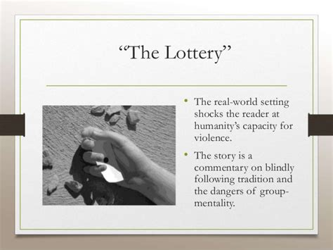 thesis for the lottery essay on the lottery by shirley jackson birthdayessay x