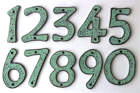 outdoor house numbers outdoor house numbers set of 4 aqua mist color ceramic