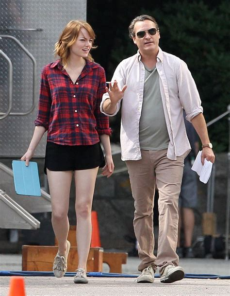 Emma Stone Woody Allen | emma stone woody allen s latest film set photos rhode