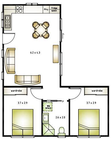 l shaped apartment floor plans image result for l shaped 50 sqm granny flat plan granny